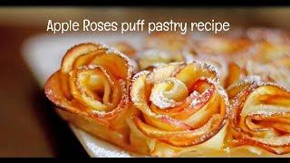 Apple Rose Puff Pastry Recipe International Cuisines
