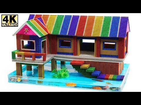 DIY How To Build Amazing Aquarium House from Magnetic Balls ASMR Magnetic Man 4K