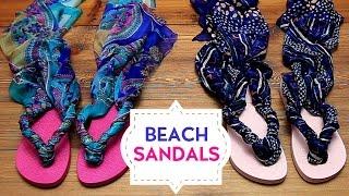 DIY: Cute Beach Sandals