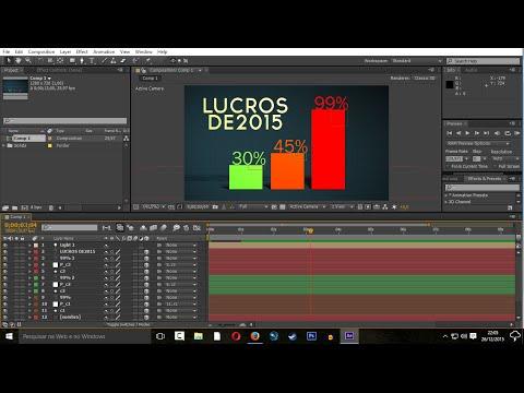 Tabela de Graficos Personalizados e animados em after effects Tutorial