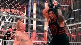 Roman Reigns vs  Brock Lesnar  Steel Cage Match Full Match