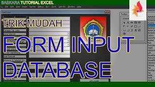 Cara Membuat Form Input Data untuk Database Excel |Baskara Tutorial Excel Padarincang