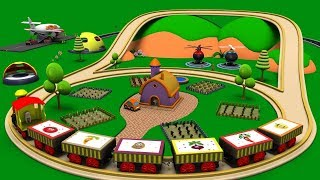 Old MacDonald had a farm - Train Cartoon - Police Cartoon - Car Cartoon For Children - Toy Factory