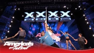 Aerial Ice - Extreme Acrobatic Ice Skaters - America's Got Talent 2013
