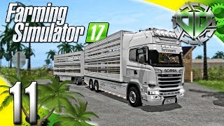 Farming Simulator 2017 Gameplay :EP11: Scania Viehtransporter!  Animal Transport! (PC Let's Play HD)
