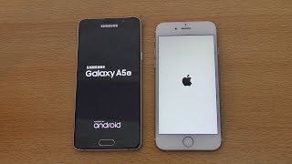 Samsung Galaxy A5 (2016) vs iPhone 6S - Speed & Camera Test (4K)