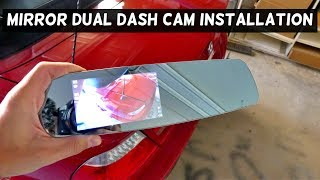 MIRROR DUAL DASH CAMERA WIDE ANGLE PRODUCT REVIEW AND INSTALATION
