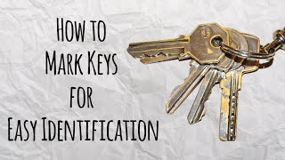 How to Mark Keys for Easy Identification -  Master of DIY - Creative Ideas For Home