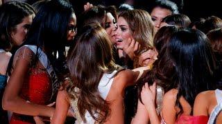 HD - Miss Colombia cries! ERROR en Miss Universo 2015 de Steve Harvey!
