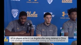 Liangelo Ball, Cody Riley & Jalen Hill Comments on Shoplifting in China