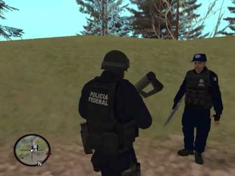Cj entra a la policia federal Loquendo
