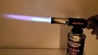 Butane Blow Torch Flame Gun Demonstration - simple device