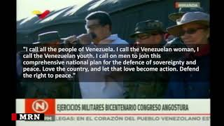 Maduro oversees large scale military drills