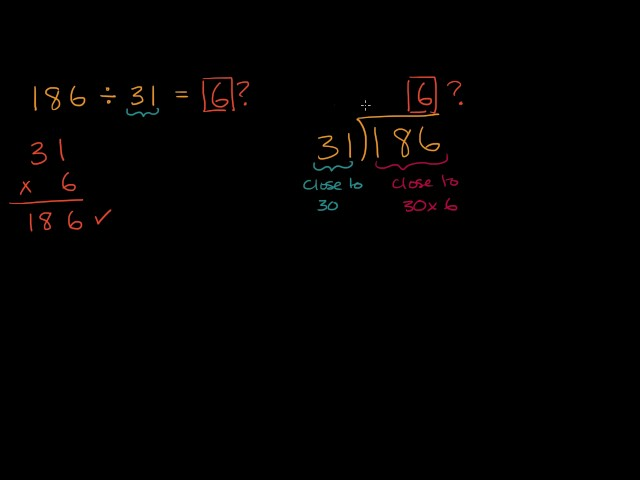 Introduction to dividing by 2 digits