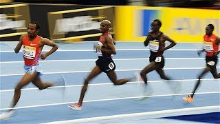 Mo Farah vs Eliud Kipchoge at Two Mile UK Indoor 2012