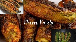 Bharwan Karela Recipe - Stuffed bitter gourd Recipe - Stuffed Masala Karela