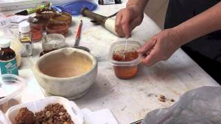 Making Ochre paints tip 19