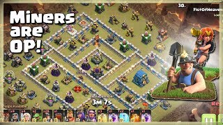 MINERS are OP!= 28 Miners+5 Valks | TH12 War Strategy #75 | COC 2018 |