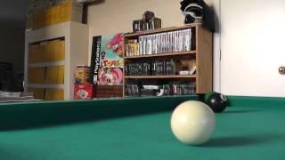9-ball pool billiards 6 foot table panasonic v500 hd 1080p