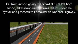 Animation of Trivandrum Airport - National Highway Access - Dr N.S. Srinivasan