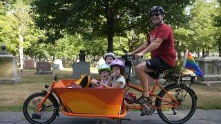 One Man, Two Wheels, Three Kids