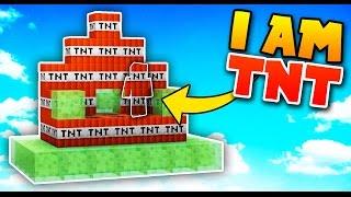 I AM TNT! | Minecraft SKYWARS TROLLING (I AM STONE CHALLENGE!)