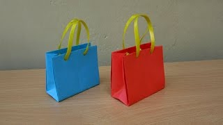 How to Make a Paper Bag for Gifts - Easy Tutorials