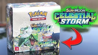 POKEMON CARDS CELESTIAL STORM BOOSTER BOX OPENING! - English