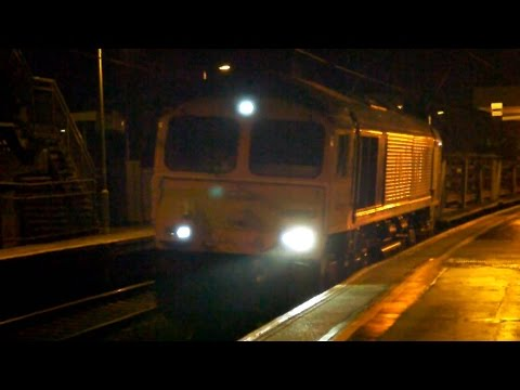 66762 6Txx 19:53 Whitemoor Yard L.D.C Gbrf to Brimsdown @ Stansted Mountfitchet 14/10/14