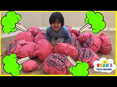 GIANT WHOOPEE CUSHION FART Challenge Toys For Kids Family Fun Children Activities Ryan ToysReview