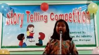 Abhilasha Budhathoki- Creative Academy, Kirtipur- Story Telling Competition, 2073