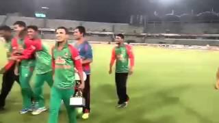 Dhakawap com tigers celebrated odi and t20 series win in style vs pakistan