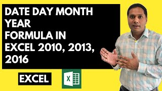 Excel in Hindi - Date, Day, Month, Year Formula