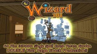 Wizard101 69 Plot INDOOR Couch Potato Bed Pt. 1 DOUBLE Mega Snack Production!!