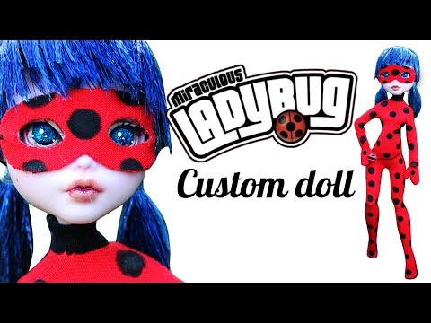 Как для кукол сделать костюм леди баг