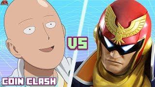 Saitama VS Captain Falcon! (One Punch Man vs Super Smash Bros) | COIN CLASH! NEW SERIES!