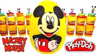 Huevo Sorpresa Gigante de Mickey Mouse en Español de Plastilina Play Doh