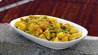 Indian mixed Vegetable Korma - Vegan Vegetarian Recipe
