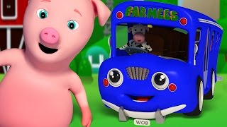 Wheels On The Bus Go Round And Round | Famous Nursery Rhymes | Baby Songs | Blue Bus