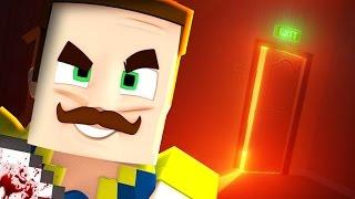 ENTERING THE SECRET BASEMENT! (Minecraft Hello Neighbour)