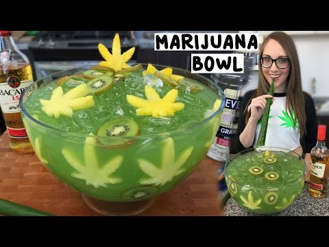 Xxx Mp4 Marijuana Jungle Juice Bowl With Banana Leaf Straws Tipsy Bartender 3gp Sex