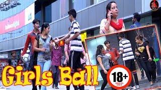 Girls Ball Prank In Public || Hottest Girls Balls Pranks || Very Funny Ball Pranks By Ak Pranks