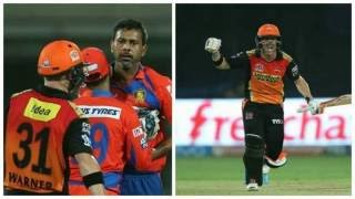 Praveen kumar fight with david warner IPL9