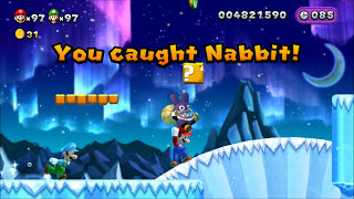 New Super Mario Bros. U. - Catching Nabbit (5 Star Profile)
