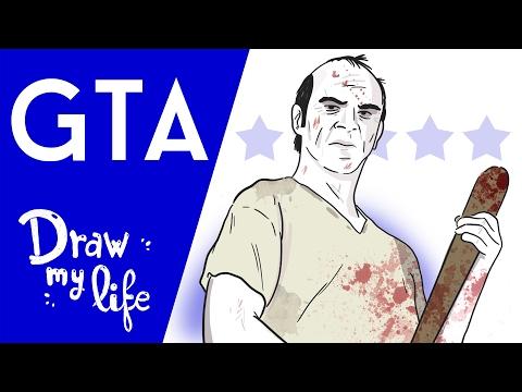 HISTORIA DE GRAND THEFT AUTO (GTA) -  Draw My Life en Español