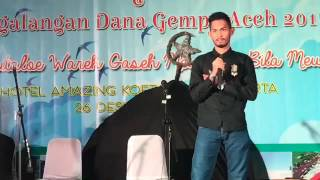 Martunis RONALDO pada malam Renungan 12 Tahun Tsunami Aceh, 26 Desember 2016. (KISAH NYATA)