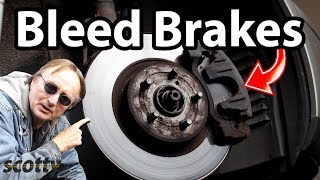How to Bleed Brakes in Your Car with One Person - DIY with Scotty Kilmer