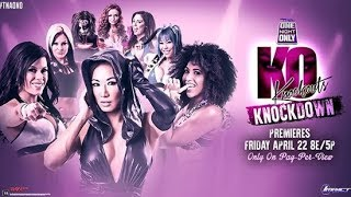 TNA One Night Only: Knockouts Knockdown 4 HIGHLIGHTS |ملخص عرض ون نايت اونلي نوك اوتس نوك دون 4 2016
