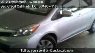 2012 Toyota Yaris Priced as low as 12995+TTL - for sale in R