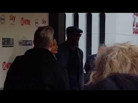Idris Elba, Freida Pinto & Babou Ceesay on the Guerrilla Premiere Red Carpet